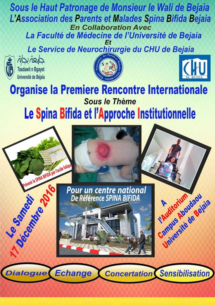 1ere rencontre internationale sur le Spina bifida et l'approche institutionnelle