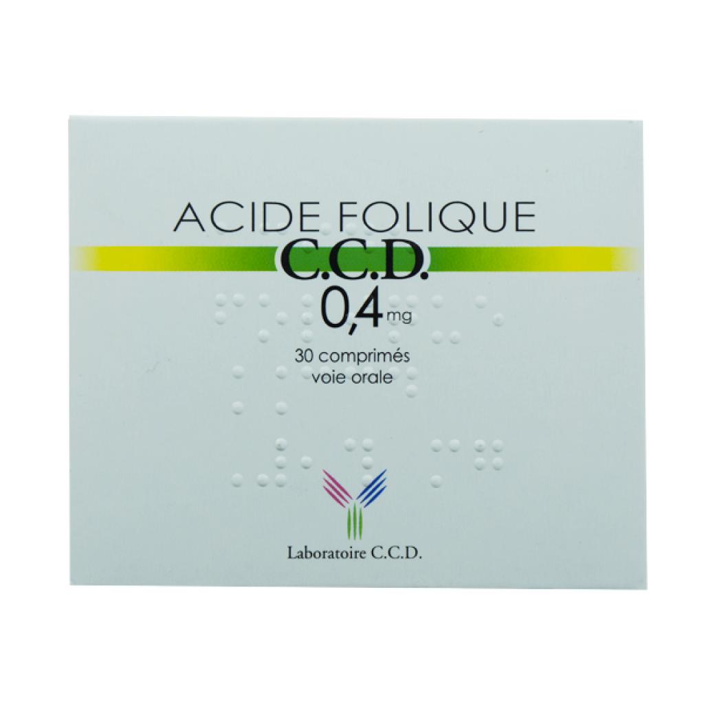 Acid folique 0.4mg - 30 comprimes